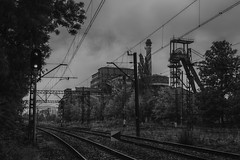 black clouds (jkatanowski) Tags: urbex urban exploration europe poland industry industrial canon forgotten abandoned sigma 1835mm hdr railway bw clouds