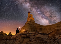 The Druid (Wayne Pinkston) Tags: druid wizard badlands newmexico desert wilderness hoodoos magical night sky nightsky nightphotography nightlandscape nightscape stars stardomilkyway milkyway galaxy dramaticsky cosmos theheavens astrophotography landscapeastrophotography wideangleastrophotography nikon priestess