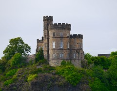 Isolated Hilltop Castle Like Structure in Edinburgh, Scotland (Seymour Lu) Tags: edinburgh scotland uk castle architecture travel green history photography old panasonic lumix vario dmcg5