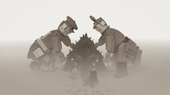 [MOC] The Christmas Truce, 1914 (Bert.VR) Tags: lego moc bricks creation wwi ww1 first world war great 1914 1918 christmas truce black white grey english british german england germany soldier uniform helmet character render digital blender cycles peace weihnachtsfriede kerstbestand