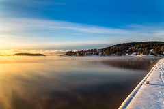 Cold winterday in Son (Einar Schioth) Tags: son winter trees tree day sky snow sea sun shore canon clouds cloud coast sigma sigma2470 vividstriking blusky nationalgeographic ngc norway norge nature landscape lake photo picture outdoor ice frost einarschioth