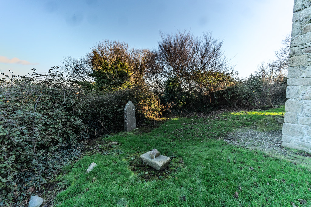 ANCIENT CHURCH AND GRAVEYARD AT TULLY [LAUGHANSTOWN LANE NEAR THE LUAS TRAM STOP]-134581