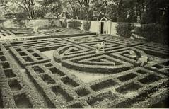 Allerton Park Chinese Maze Formal Garden, Monticello, IL 1951 (RLWisegarver) Tags: piatt county history monticello illinois usa il