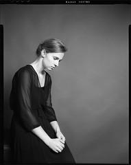 Portrait. (lavilotte-rolle) Tags: portrait portraiture largeformat blackandwhite bw nb noiretblanc dress robe analog film tmax100