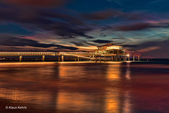 Timmendorfer Strand (Klaus Kehrls) Tags: nacht timmendorferstrand seebrücke teehaus landschaft ostsee morgenrot