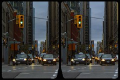 Toronto, Financial District 3-D / CrossEye / Stereoscopy / HDR / Raw (Stereotron) Tags: north america canada province ontario toronto to tdot hogtown thequeencity thebigsmoke torontonian downtown financialdistrict streetphotography urban citylife traffic lights street road cars crosseye crosseyed crossview xview cross eye pair freeview sidebyside sbs kreuzblick 3d 3dphoto 3dstereo 3rddimension spatial stereo stereo3d stereophoto stereophotography stereoscopic stereoscopy stereotron threedimensional stereoview stereophotomaker stereophotograph 3dpicture 3dglasses 3dimage twin canon eos 550d yongnuo radio transmitter remote control synchron kitlens 1855mm tonemapping hdr hdri raw