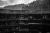 福建云水谣土楼 (SinoLaZZeR) Tags: zhongguo fujian yunshuiyao tulou yu heibai yazhou fujifilm fuji finepix x100 blackwhite blackandwhite bw architecture architektur rain china asia 福建 云水谣 中国 黑白 雨 亚洲 土楼