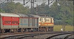 12382 Poorva Express (Abhishek Jog) Tags: gzb wap7 30227 swiftly curves out from tilak bridge charging 12382 ndlshwh poorva express via gaya tkj ndls hwh new delhi howrah jn junction towards ghaziabad aljn aligarh mwc