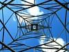 Up through the power relay. (rocinante11) Tags: blue florida sky metal up symmetry symmetrical