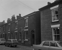 Negative No: 1968-1743 - Negatives Book Entry: 30-07-1968_CP_Ashton Old Road CPO_Buildings of Objectors (archivesplus) Tags: manchester england 1960s townhallphotographerscollection bnd667c ford anglia fordanglia