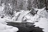 robertson creek waterfall (twurdemann) Tags: algomahighlands canada cascade christmaseve cold creek forest fujixt1 goulaisriver ice landscape nikcolorefex northernontario ontario robertsoncreek snow stream trees vankoughnettownship water waterfall winter xf1855mm