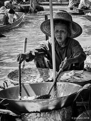 Floating Kitchen (orgazmo) Tags: streetphotography blackwhite monochrome people thailand bangkok floatingmarket damnoensaduak olympus omd em1mk2 mzuiko12100mmf4ispro micro43s m43s mft