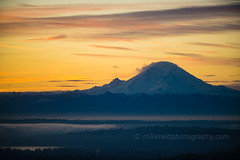 Rainier Sunrise 200mm (www.mikereidphotography.com) Tags: rainier mountain sunrise northwest washington