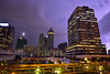 Who lives here? (Sumarie Slabber) Tags: lightning city night clouds weather buildings storm stormy sky sumarieslabber fence skyscrapers mercurydrug ascott mall manila philippines