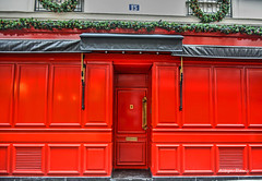 closed for the holidays (albyn.davis) Tags: storefront door paris europe france holidays christmas decorations color colorful vivid bright vibrant red