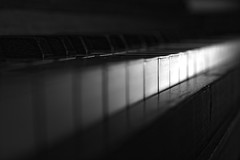 Play me (Jose Quental) Tags: piano blackandwhite instruments white keys wood texture
