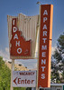 The Idaho (Owen Dett) Tags: idaho motel apartments old neon sign over night roadside red blue