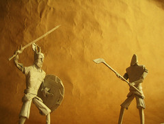 Warriors (Marcos Origami) Tags: origami warriors guerreros knight tribal norse medieval