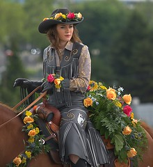 A Beauty (swong95765) Tags: rider woman female lady beauty roses parade equestrian gorgeous leather horse