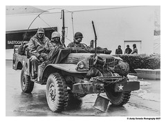 Battle of the Bulge revisited (cornelis1980) Tags: dodge jeep battle bulge ww2 black white monochrome soldiers us american infantry reenactment bastogne