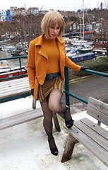 Back after shopping yesterday (Miss Nina Jay) Tags: trannie heels tights