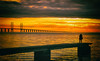 Sunset (explore 2017-12-30) (Maria Eklind) Tags: color bridge nature öresundsbron sweden sun beach silhouette malmö strand himmel sky brygga solnedgång sibbarp bro sunset skånelän sverige se