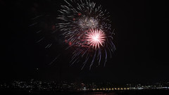 Manly New Year's Eve Fireworks 2017 (9) (geemuses) Tags: manly nsw newyearseve2017 manlycove fireworks fireworksdisplay light night bright color colour colours display event canon 6dmkii 2470mmlens bursts smoke cloud