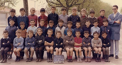 Class Photo (theirhistory) Tags: boys children kids school class colour jumper shirt shoes wellies trousers teacher shorts rubberboots form pupils students education