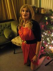 Christmas promise (Julie Bracken) Tags: cd tgurl feminized xdresser mature old tv portrait hair red fashion transvestite mini skirt transgender m2f mtf transsisters enfemme ginger party tranny trannie heels nylon julieb85 crossdressing crossdresser tgirl feminised kinky pantyhose 2014