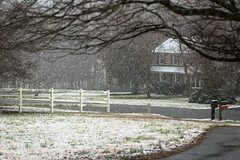 Snow - Anderson S.C. (DT's Photo Site - Anderson S.C.) Tags: canon 6d 135mmf2l lens andersonsc upstate rural country roads streets southcarolina december winter snow storm southern america usa landscape