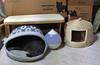 Yuba and Norio (sjrankin) Tags: 27december2017 edited animal cat upstairs cathouse catigloo floor norio chigura yuba boxes shippingboxes movingboxes cardboardboxes bench humidifier