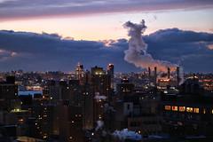 Smoke upon Manhattan (erichudson78) Tags: usa nyc manhattan eastside canoneos6d canonef24105mmf4lisusm dawn aube clouds nuages fumée smoke sunrise ville town twilight ciel sky winter hiver newyorkcity cityscape