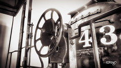 4-3 (dougkuony) Tags: durham durhammuseum hdr oldunionstation unionstation bw blackandwhite locomotive mono monochrome railroad rollingstock unionpacific wheel