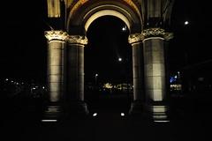 (Marwanhaddad) Tags: amsterdam nightscape light cityscape pillars architecture
