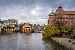 The River Rhine Strasbourg (Tony_Brasier) Tags: river bluesky bridge boats nikond7200 buildings cold france location lovely raw road 1750mm fun flickr fishing sigma sky