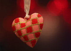 My little festive heart (Through Serena's Lens) Tags: stilllife hmm macromondays redux2017myfavoritethemeoftheyear heart ornament macro bokeh dof canoneos6dmarkii 7dwf