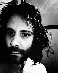 Self-portrait (Josu Sein) Tags: selfportrait selfie autorretrato monochrome monocromo highcontrast altocontraste beard barba expressionism expresionismo cinematic cinemático queer josusein