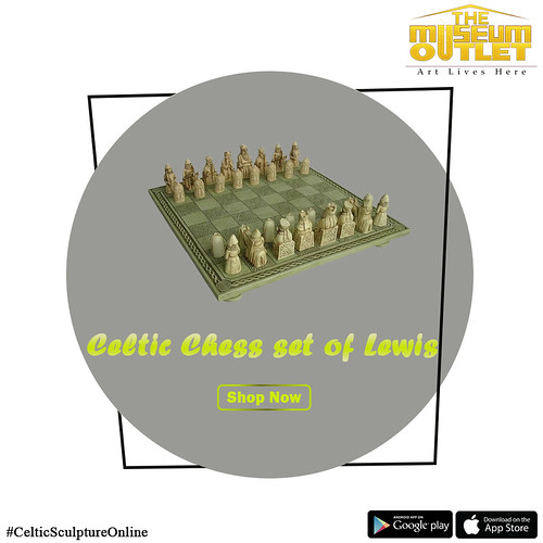 Shop Celtic Chess Set of Lewis Sculpture from The Museum Outlet