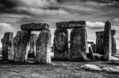Stonehenge (meepeachii) Tags: england englishheritage uk unitedkingdom greatbritain stonehenge southengland vacation holiday blackandwhite bw monochrome stones nikon photography