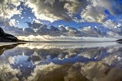The other half (pauldunn52) Tags: dunraven southerndown beach glamorgan heritage coast wales wet sand sky reflection