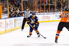 "Kansas City Mavericks vs. Colorado Eagles, December 16, 2017, Silverstein Eye Centers Arena, Independence, Missouri.  Photo: © John Howe / Howe Creative Photography, all rights reserved 2017. • <a style=""font-size:0.8em;"" href=""http://www.flickr.com/photos/134016632@N02/39106589582/"" target=""_blank"">View on Flickr</a>"