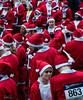 Spot The Real Santa (PhilR1000) Tags: people santarun santa number red christmas