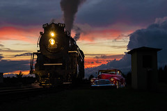 Twilight of Steam (chrislantz@att.net) Tags: 1948 chevrolet chevy 767 765 nkp nickelplateroad berkshire locomotive steam historical history americana american indiana fortwayne