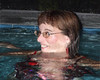 Swimming with glasses (clarkfred33) Tags: swim swimmingpool wetfun wetadventure swimwear glasses wetlook 2009 wetwoman friend cute smile wethair wetclothes