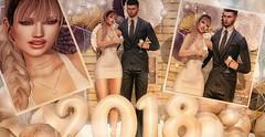 ♚ 467 ♚ - Happy New Year ✨ (Luxury Dolls) Tags: hny happynewyear newyear white gold decor partnership pose chezmoi 2018 doux hair bento maitreya body catwa head smile balloons hive uber backdrop backgrounds backdropyou avaway necklace new event style store dress deaddollz happy