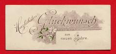 Neujahrsgrußkarte mit weißen Blüten (altpapiersammler) Tags: alt old vintage card karte gruskarte grus grüse greeting regards schriftdesign schrift zierschrift lettering