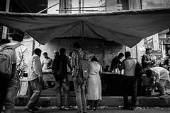Chai Tea Stand (Hiro_A) Tags: dhaka bangladesh banani street people monochrome bw blackwhite chai tea stand stall sony rx100m3