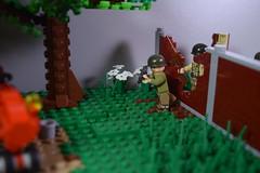 Advance into France, 1944- through the breach (♠York♠) Tags: lego ww2 world war 2 wwii moc minifigs minfig american german france 1944 house battle