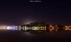 Reflejos (NatyCeballos) Tags: agua noche cielo ciudad luces simetria reflejo reflexes reflexion lumiere lights symmetry symetrie nuit night puente bridge pont 2018 villamaria argentina