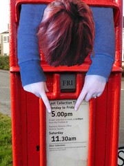 Last Post and  90/118 in 2018 - Red, White and Blue (Explored) (amy's antics) Tags: wah wearehere postbox head arms 5 granddaughter